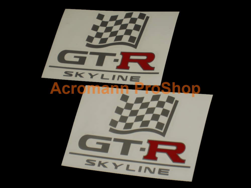 Skyline GTR (GT-R) 6inch Decal (Style#3) x 2 pcs
